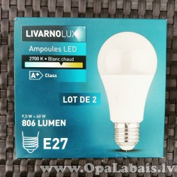 2 LED spuldzes  (A+ klase, E27, 806 lm,...