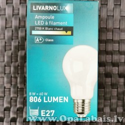 LED spuldze  Filament (A+ klase, E27, 806...
