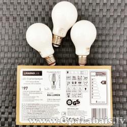 3 LED spuldzes Filament  (A+ klase, E27,...
