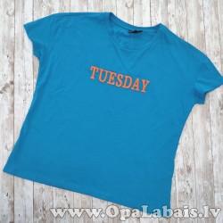 Kokvilnas t-krekls, oversize (uzraksts...