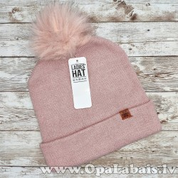 Silta ziemas cepure ar bumbuli, beanie