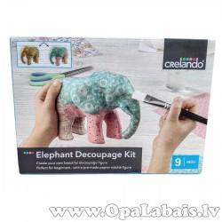 Dekupāžas komplekts - zilonis