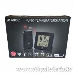 Elekstroniskais pulkstenis ar temperatūras...