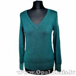 Viskozes džemperis ar elegantu aproču daļu