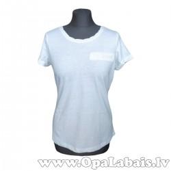 Brīvs kokvilnas t-krekls (balts)