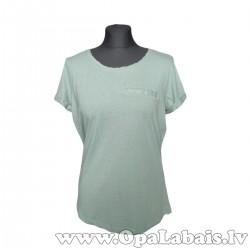 Brīvs kokvilnas t-krekls (krēmīgi zaļš)