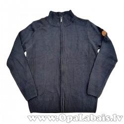 Elastīga adīta vīriešu jaka (melna)