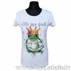 Kokvilnas t-krekls OH MY GOD