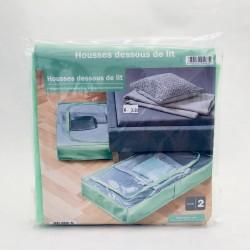Auduma kastes (novietošanai zem gultas) ar rāvējslēdzēju - gaiša zaļa