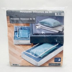 Auduma kastes (novietošanai zem gultas) ar rāvējslēdzēju - balta