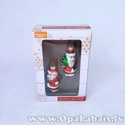 Stikla dekors - 2 Ziemassvētku vecīši