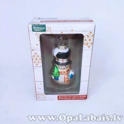 Stikla dekors - sniegavīrs
