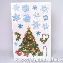 Ziemassvētku logu uzlīmes - Eglītes