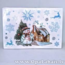 Ziemassvētku logu uzlīmes - Sniegavīrs
