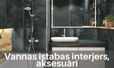 Vannas istabas interjers, aksesuāri