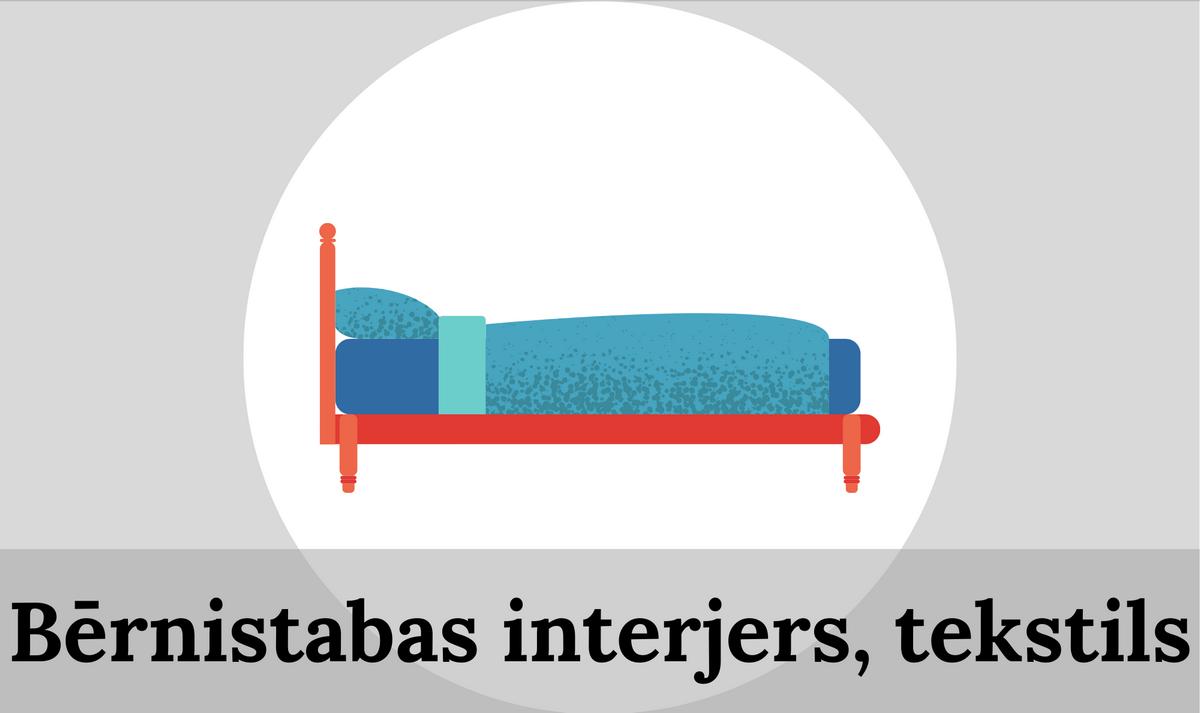 Bērnistabas interjers, tekstils